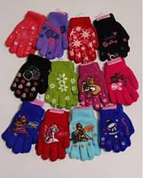 Двойные перчатки для девочек, от 2 до 5 лет