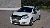 Дефлектор +на капот   Fiat Linea с 2007 г.в (Фиат Линеа) Vip Tuning