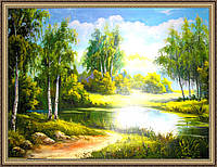 Картина Летний день 500х700 мм №317 в багетной рамке