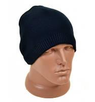 Теплая черная шапка для мужчин