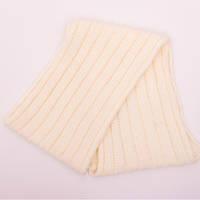 Белый зимний шарфик