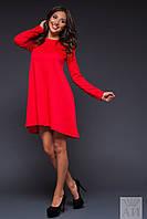 Платье расклешенное длинный рукав 02/1262