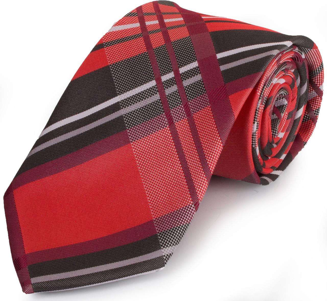 Интересный мужской широкий галстук SCHONAU & HOUCKEN (ШЕНАУ & ХОЙКЕН) FAREPS-75 красный