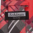 Интересный мужской широкий галстук SCHONAU & HOUCKEN (ШЕНАУ & ХОЙКЕН) FAREPS-75 красный, фото 3
