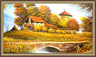 Картина Козацкий замок 1000х500 мм №343 в багетной рамке