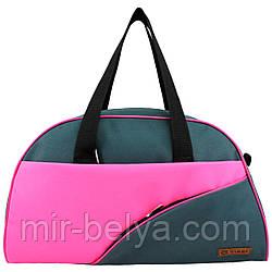 Сумки фитнес Tiger спортивная сумка  серо-розовая 033