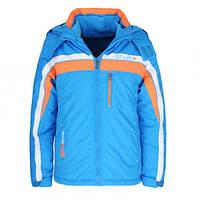 Лыжные подростковые куртки для мальчиков 2 в 1 (КУРТКА +ФЛИСОВАЯ КОФТА) Glo-story. В остатке 134р.
