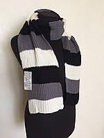 Вязаный зимний шарф