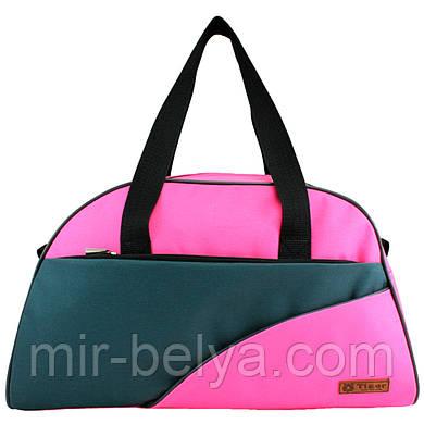 Сумки фитнес Tiger спортивная сумка  серо-розовая 032