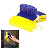 Магнитная щетка для мытья окон Double Sider Glass Cleane (двухсторонняя щетка)