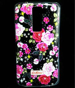 Чехол накладка для LG K8 K350E силиконовый Diamond Cath Kidston, Ночные розы