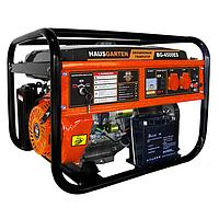 Бензогенератор HausGarten ВG-4500 (4,5 кВт, ручной стартер)   Бесплатная доставка