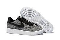 Женские кроссовки Nike Air Force 1 Low Flyknit Grey, фото 1