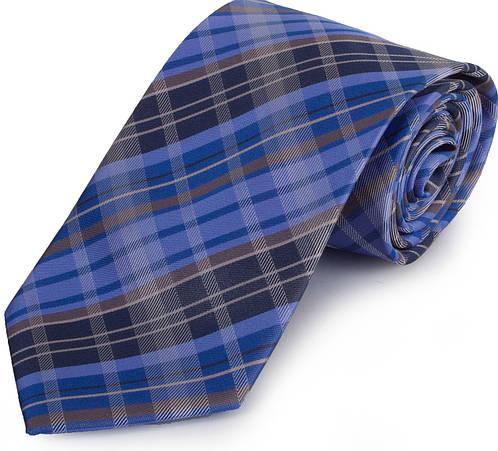 Универсальный мужской широкий галстук SCHONAU & HOUCKEN (ШЕНАУ & ХОЙКЕН) FAREPS-80 синий