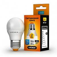 LED лампа VIDEX G45e 5W E27 3000K 220V