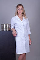 Медицинский халат с поясом (коттон)