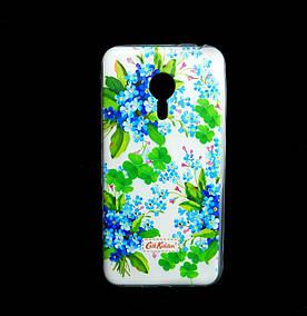Чехол накладка для Meizu PRO 5 силиконовый Diamond Cath Kidston, Прекрасные незабудки