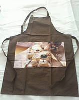 Набор фартуков для кухни Arya 4 шт. Bread   (коричневый, красный, зеленый и синий)