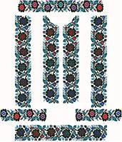 Заготовка для вишивки жіночого плаття-вишиванки під бісер (ПЛд-060)