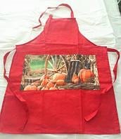 Набір фартухів для кухні Arya 4 шт. Orange (коричневий, червоний, зелений і синій)