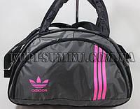 Молодежная спортивная сумка темно-серого оттенка