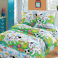 Комплект детского постельного белья подростковый Далматинцы на белом голд