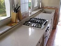 Столешницы для кухни c нижней мойкой из искусственного литьевого камня