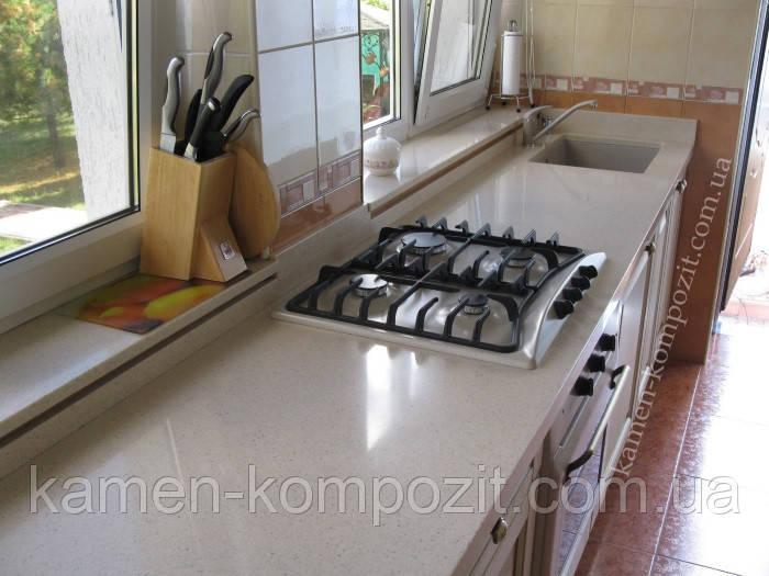 Столешницы для кухни c нижней мойкой из искусственного литьевого камня, фото 1