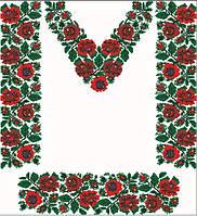 Заготовка для вишивки жіночого плаття-вишиванки під бісер (ПЛд-062)