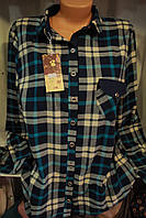 Женская рубашка шерсть Батал оптом