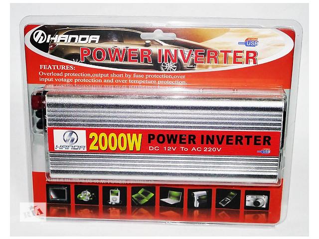 Преобразователь авто инвертор  HANDA  12V-220V  2000 Вт с  USB