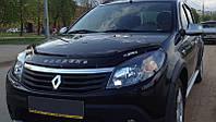 Дефлектор капота Renault Sandero с 2008-2013 г.в. (Рено Сандеро) Vip Tuning