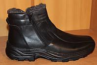 Ботинки мужские зимние из натуральной кожи черные на молнии от производителя модель АМ400, фото 1