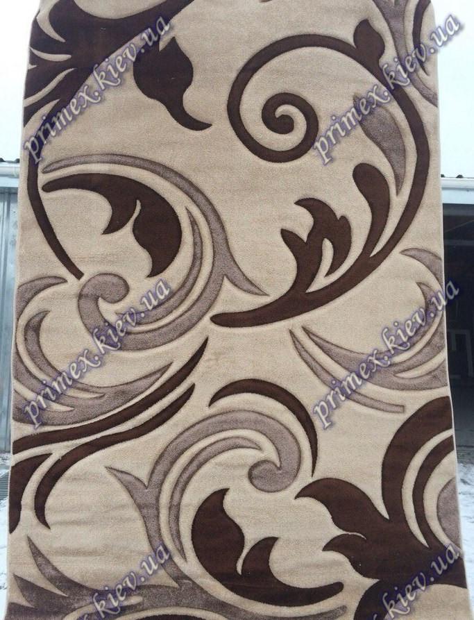 """Рельефный ковер, дорожка Арда """"Ветерок"""", цвет коричневый"""