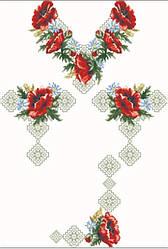 Заготовка для вишивки жіночого плаття-вишиванки під бісер (ПЛд-086)