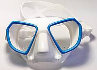 Маска снорклинг Salvimar Noah; белый силикон; синяя рамка