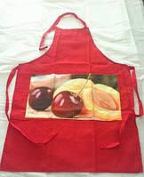 Кухонные фартуки 4 штуки  Arya Cherry   (коричневый, красный, зеленый и синий)