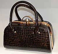 Классическая  женская сумка саквояж
