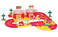 Детский автотрек с гаражами Пожарная команда Wader (53310)