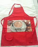 Кухонные фартуки 4 штуки  Arya Coffee   (коричневый, красный, зеленый и синий)