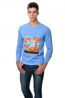 Футболка с длинным зауженным рукавом - 7203 слон