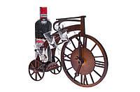 """Деревянная подставка для вина """"Пенни-фартинг"""" с комплектом рюмок (51108422)."""