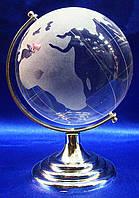 Глобус хрустальный белый (8)(13х8,5х8,5 см)(6052)