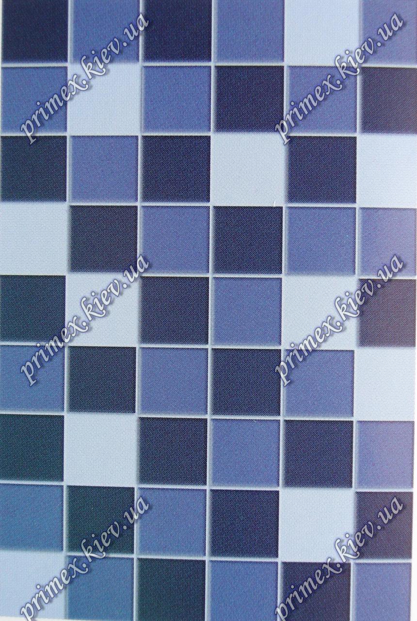 """Рельефный  ковер, дорожка Арда """"Мозаика"""", цвет синий"""