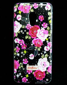 Чехол накладка для Meizu PRO 6 силиконовый Diamond Cath Kidston, Ночные розы