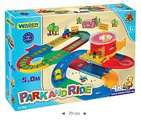 Детский автотрек 2 в 1 с Вокзалом и ж/д 5 м Wader (51792)