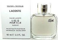 Тестер. Женская туалетная вода Lacoste Eau de Lacoste L.12.12 Pour Elle Elegant, 90 мл