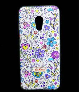 Чехол накладка для Meizu PRO 6 силиконовый Diamond Cath Kidston, Цветочная фантазия