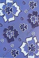 """Рельефный ковер, дорожка Арда """"Фиалки"""", цвет синий"""