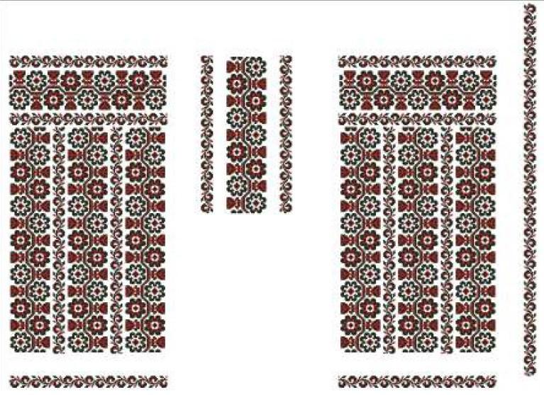 Заготовка для вишивки жіночого плаття-вишиванки під бісер (БС-78с)